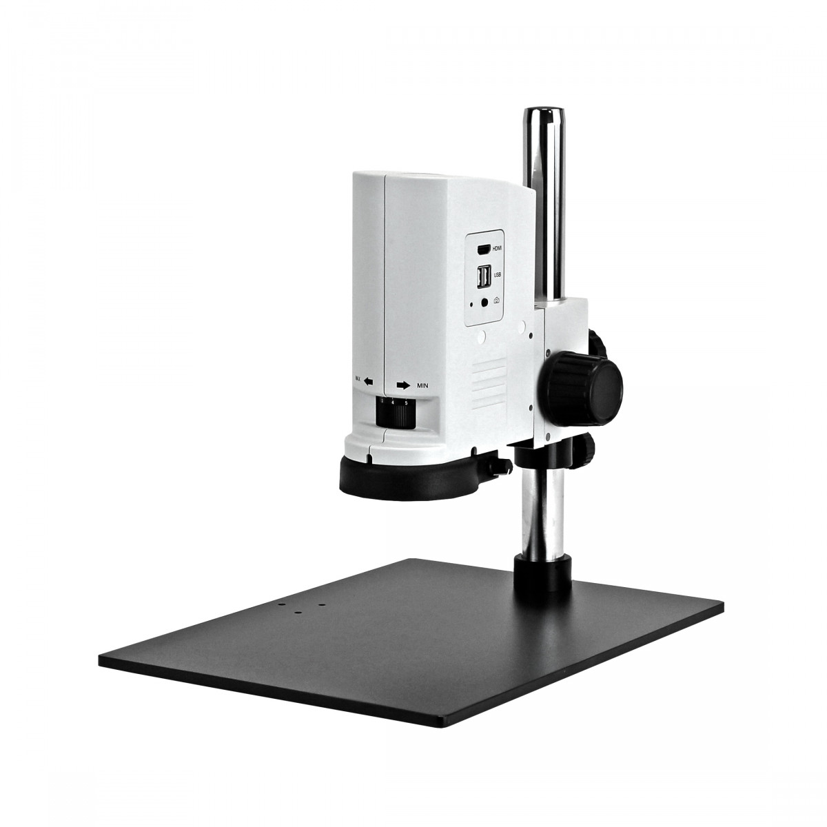Example of ZoomHD with Post Mount on Pole Stand (stand not included)